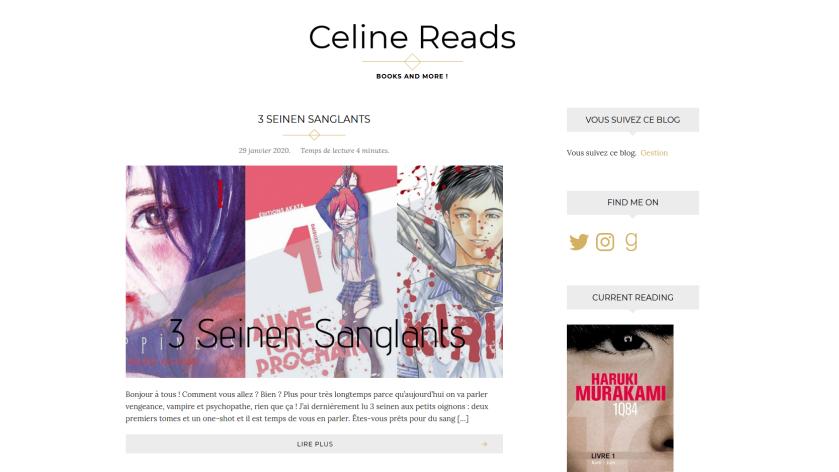 Celine reads