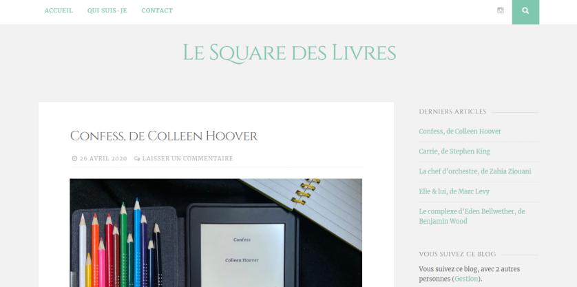 Le square des livres